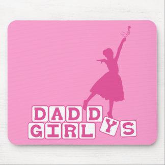 El chica del papá de la bailarina alfombrillas de raton