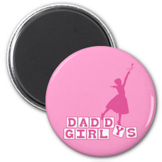 El chica del papá de la bailarina imán redondo 5 cm
