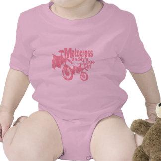 El chica del papá del motocrós traje de bebé