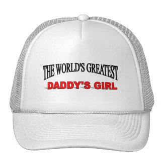 El chica del papá más grande del mundo gorras