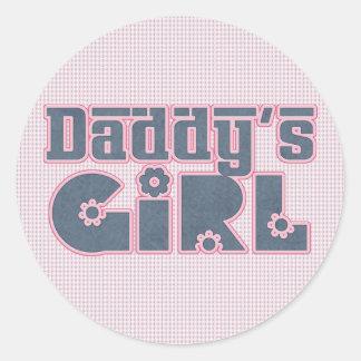 El chica del papá pegatinas redondas