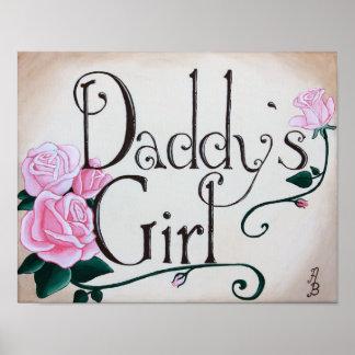 El chica del papá póster