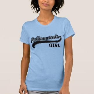 El chica del policía t-shirt