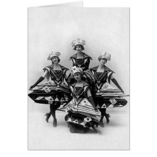 El chica del siglo - Musical 1916 de Ziegfeld Tarjeta De Felicitación