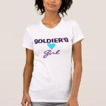 El chica del soldado camiseta