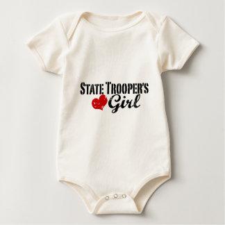 El chica del soldado de caballería estatal traje de bebé