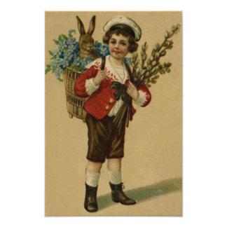 El chica del Victorian del conejito de pascua me o Cojinete