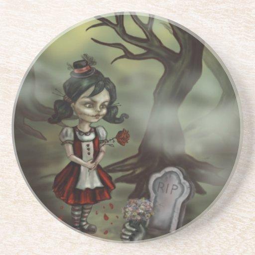 El chica del zombi encuentra amor verdadero en un  posavasos diseño