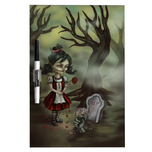 El chica del zombi encuentra amor verdadero en un  tablero blanco