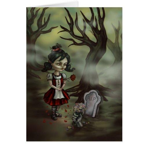 El chica del zombi encuentra amor verdadero en un  tarjetas