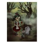 El chica del zombi encuentra amor verdadero en un  postales