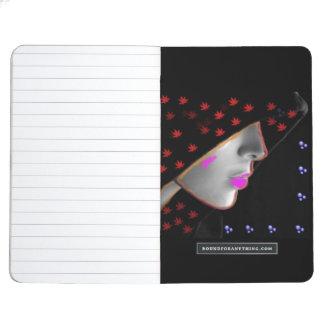 El chica en un diario de la capilla cuaderno