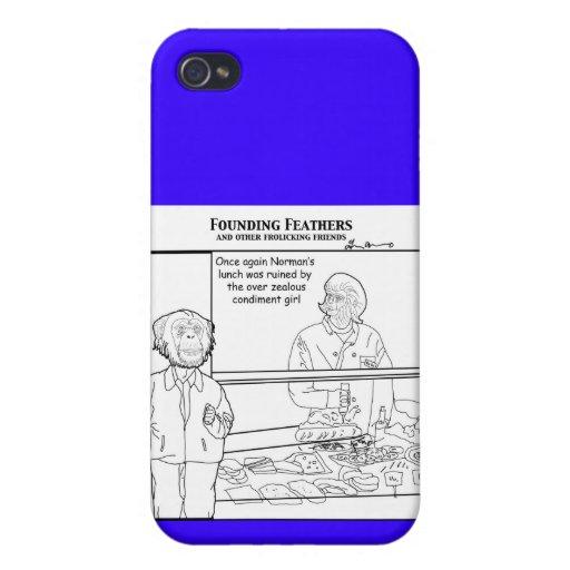 El chica entusiasta excesivo del condimento pega o iPhone 4/4S carcasa