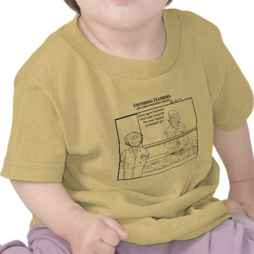 El chica entusiasta excesivo del condimento pega camisetas