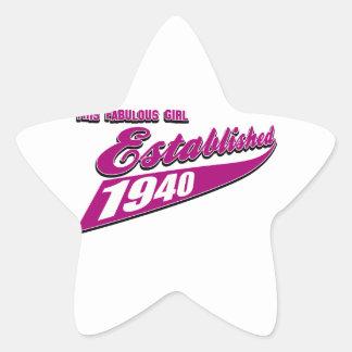 El chica estableció 73 pegatina en forma de estrella
