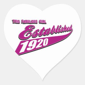 El chica estableció 93 pegatinas corazon personalizadas