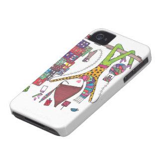el chica explora la ciudad en el caso del iphone iPhone 4 Case-Mate coberturas