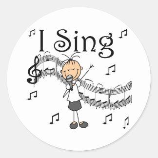 El chica I canta a pegatinas el pegatina