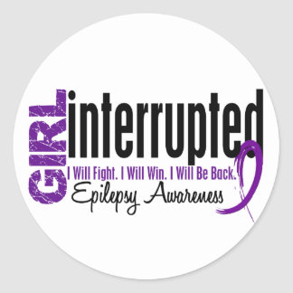 El chica interrumpió 1 epilepsia etiquetas redondas