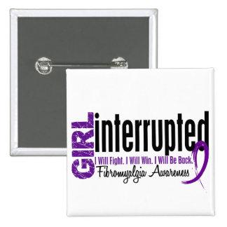El chica interrumpió 1 Fibromyalgia Pin Cuadrada 5 Cm