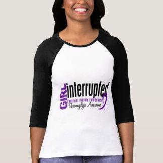 El chica interrumpió 1 Fibromyalgia Camiseta