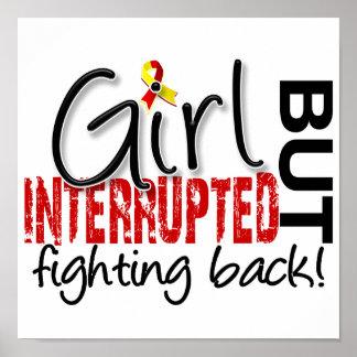 El chica interrumpió 2 la hepatitis C Posters