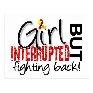 El chica interrumpió 2 la hepatitis C Tarjetas Postales