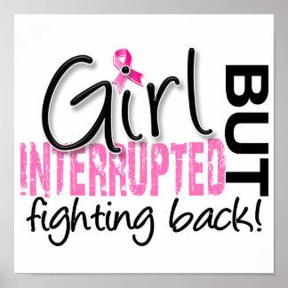 El chica interrumpió al cáncer de pecho 2 póster