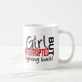 El chica interrumpió al cáncer oral 2 taza de café