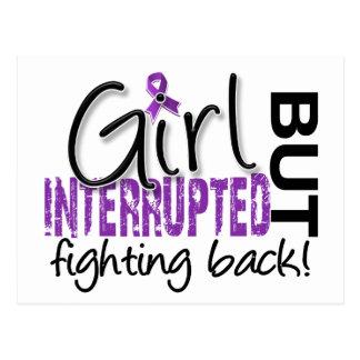 El chica interrumpió el Fibromyalgia 2 Tarjeta Postal