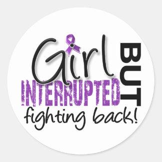 El chica interrumpió el lupus 2 etiqueta redonda