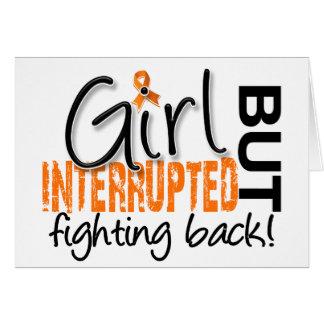El chica interrumpió la esclerosis múltiple 2 tarjeta de felicitación