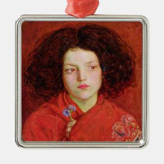 El chica irlandés, 1860 (aceite en la lona colocad ornamento de navidad