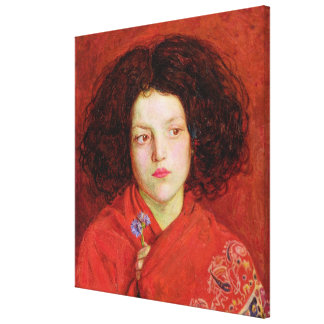 El chica irlandés, 1860 (aceite en la lona colocad lienzo envuelto para galerías