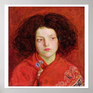 El chica irlandés, 1860 (aceite en la lona colocad póster