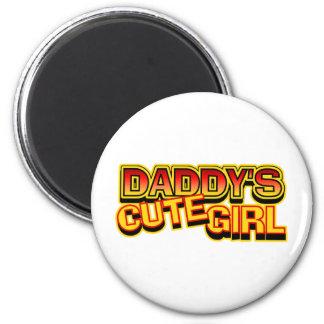El chica lindo del papá imán redondo 5 cm