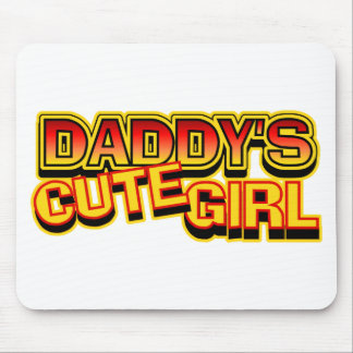 El chica lindo del papá tapete de ratones