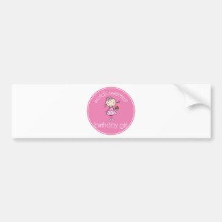El chica más dulce del cumpleaños de los mundos etiqueta de parachoque