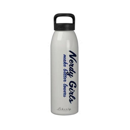 El chica Nerdy hace a mejores amantes Botellas De Agua Reutilizables