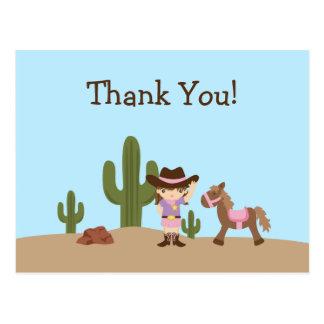 El chica occidental de la vaquera de la diversión  tarjetas postales