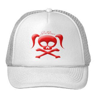El chica piratea el gorra
