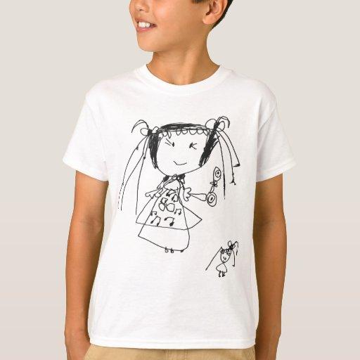 El chica que el niño dibuja polera
