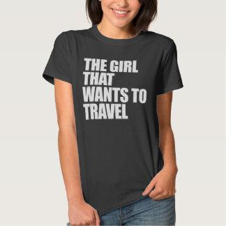 El chica que quiere viajar playeras