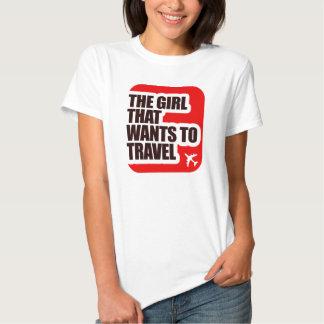 El chica que quiere viajar remeras
