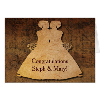 El chica resuelve la invitación de boda del chica tarjeta de felicitación