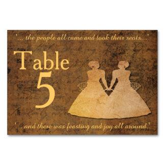 El chica resuelve la tarjeta lesbiana de la tabla