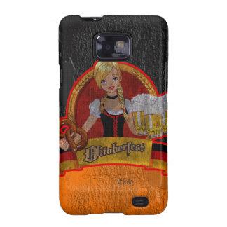 El chica retro Samsung de Oktoberfest Waitres del  Samsung Galaxy S2 Carcasas