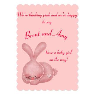 El chica rosado simple junta la fiesta de invitación 12,7 x 17,8 cm