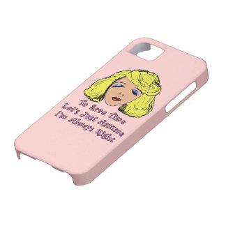 El chica rubio del encanto ahorra el tiempo iPhone 5 Case-Mate carcasa