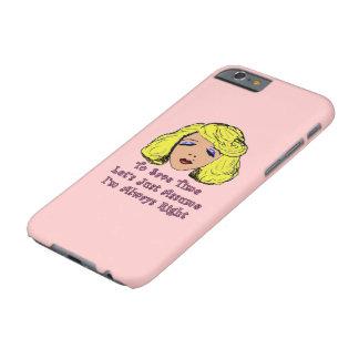 El chica rubio del encanto ahorra el tiempo funda de iPhone 6 barely there